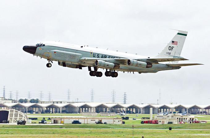 美軍的RC-135W電子偵察機。