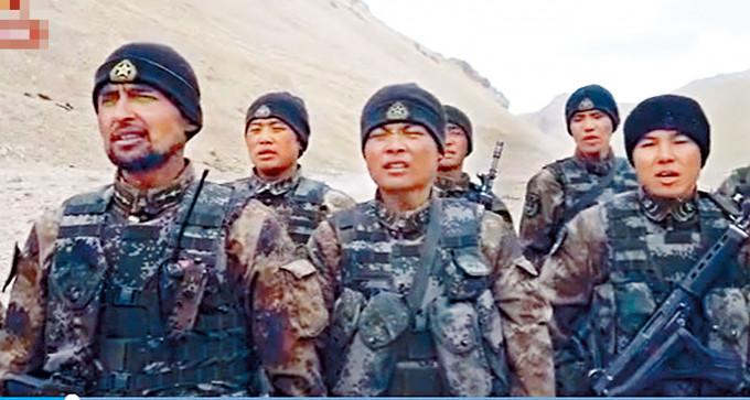 駐守中印邊境的中國軍人。