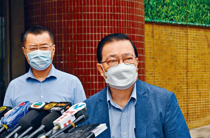 譚耀宗指,林鄭延遲赴京完全可以理解。