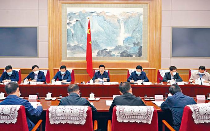 公安部長趙克志昨天召開會議。