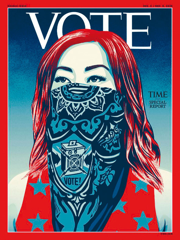 《時代》雜誌新一期封面。