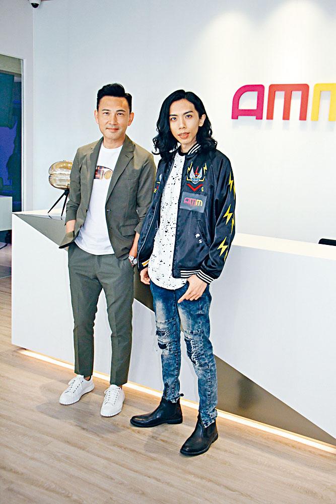 林文龍與達哥一起宣傳AMM直播節目。