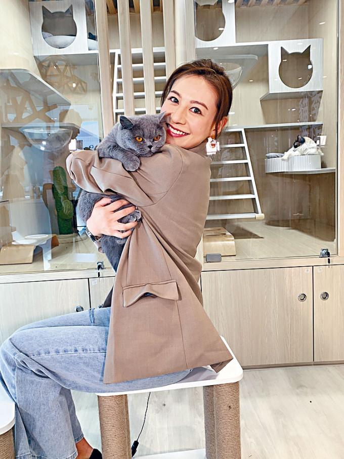江伊晴坦言做貓酒店生意令自己好開心。
