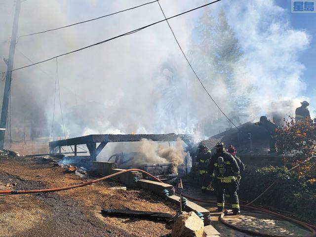 屋崙山發生二級火,相信是發電機故障引起。屋崙消防局