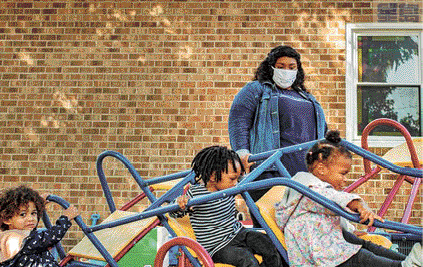 ■受到新冠病毒打擊,不少日托中心都在瀕臨倒閉的邊緣。華爾街日報圖片