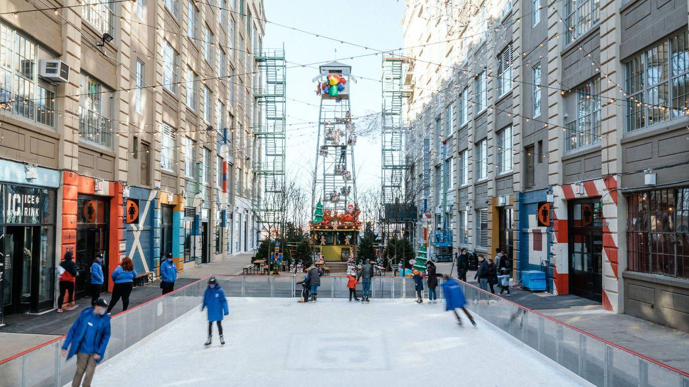 ■工業城室外溜冰場。 工業城提供