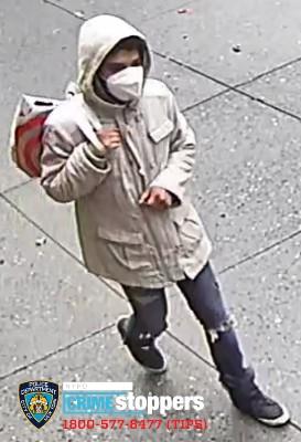 ■ 圖為涉案男嫌。 NYPD
