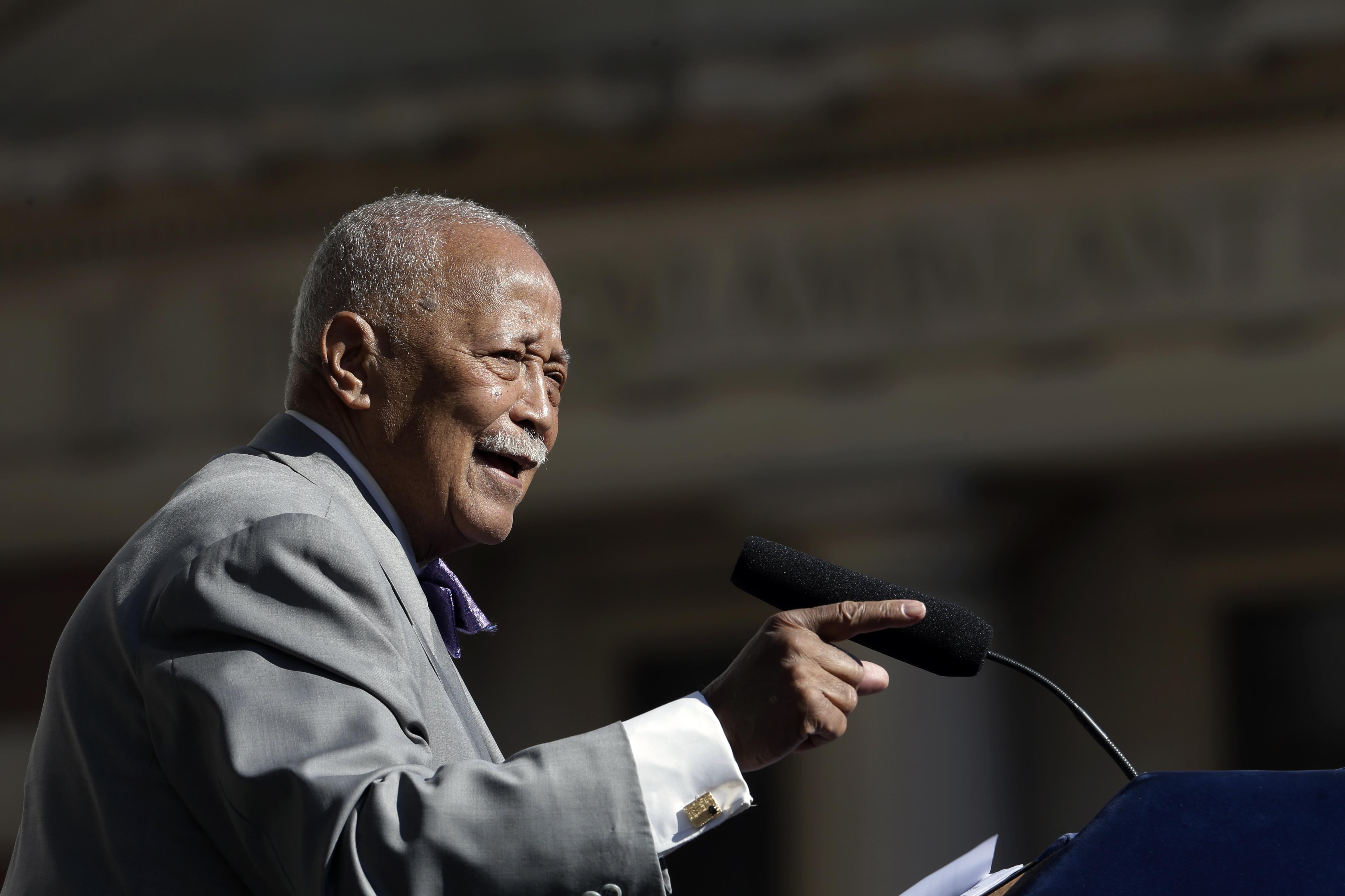 ■丁勤時是紐約市首位非裔市長。 美聯社