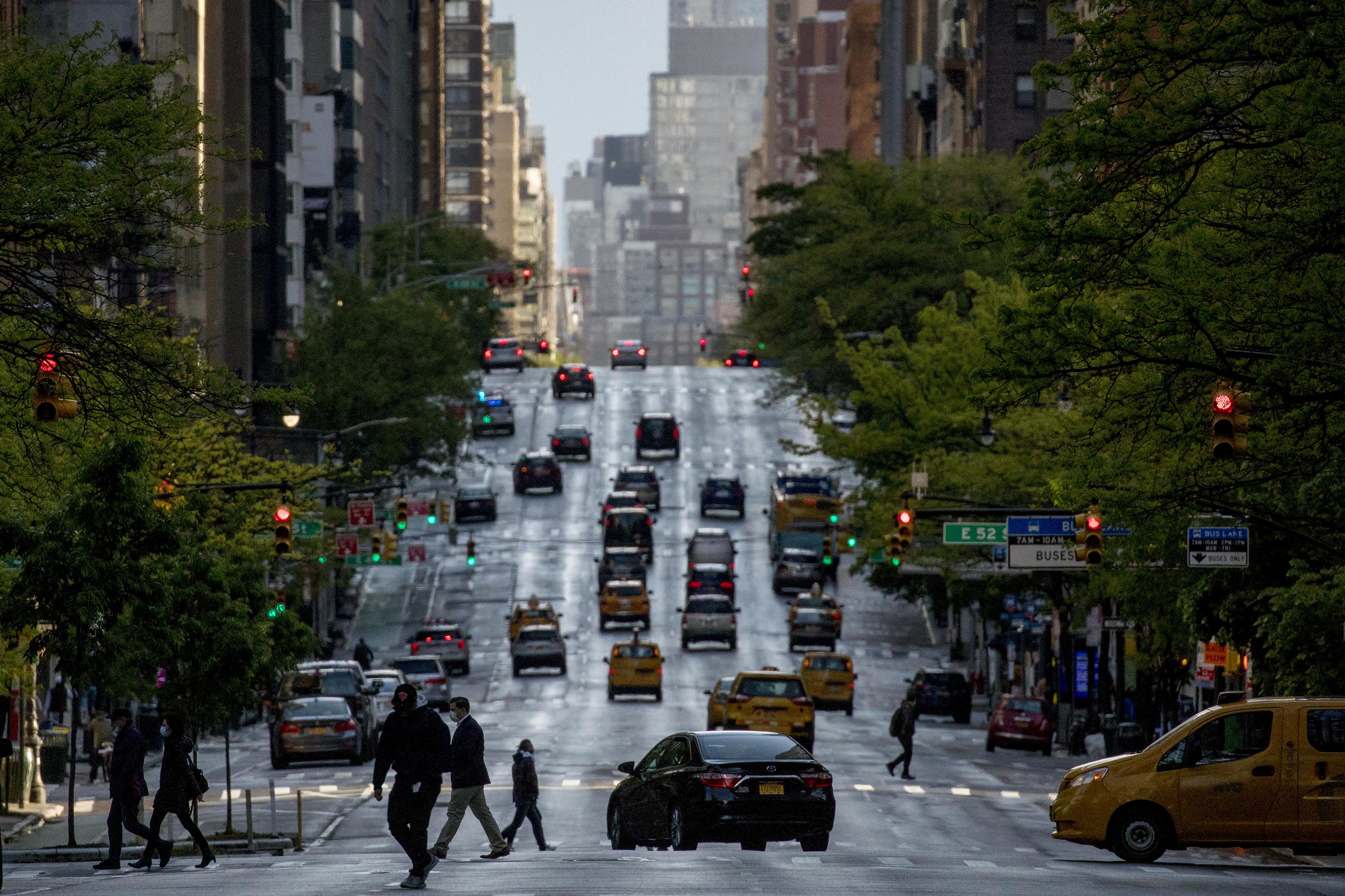 除曼哈頓商業區之外,其他地區的車流 量已大致恢復正常。Dave Sanders/紐約時報