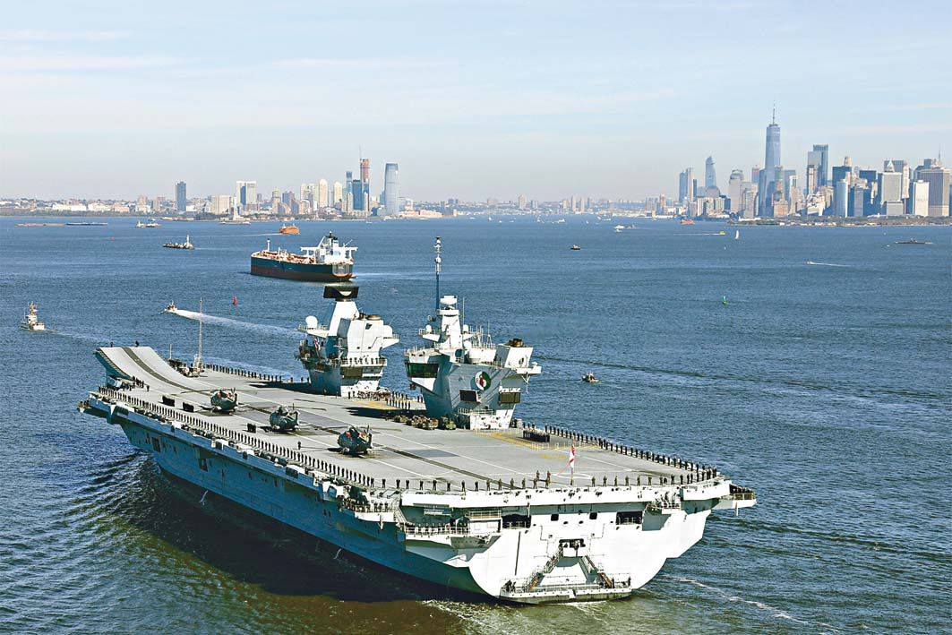 英國航母伊利沙伯女皇號。 路透社