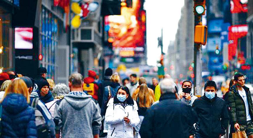 白思豪表示,紐約市感恩節後很有可能被劃入橙區。資料圖片