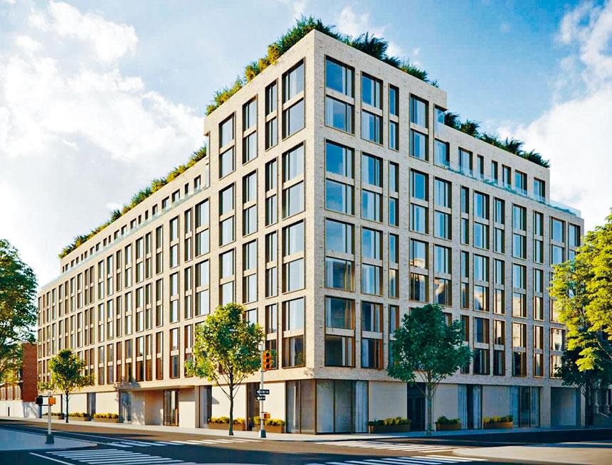 新冠疫情期間最大型地產開發項目,皇后區牙買加88大道153-10號9層住宅大樓,擁有223個單位,30%提供給低收入 家庭申請。