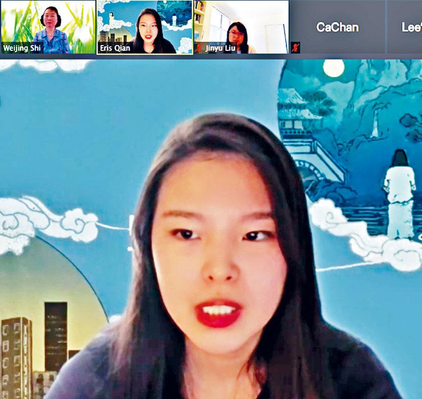「母語」導演卓揚介紹該片的幕後故事。