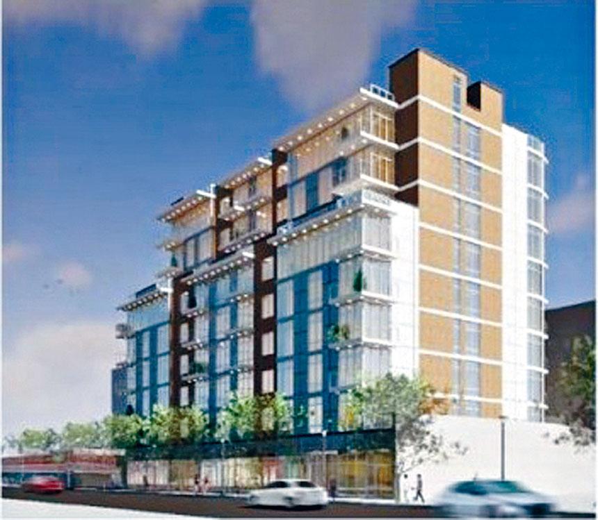 開發商計劃在雷哥公園建造一棟9層的商住兩用樓。市規劃局提供