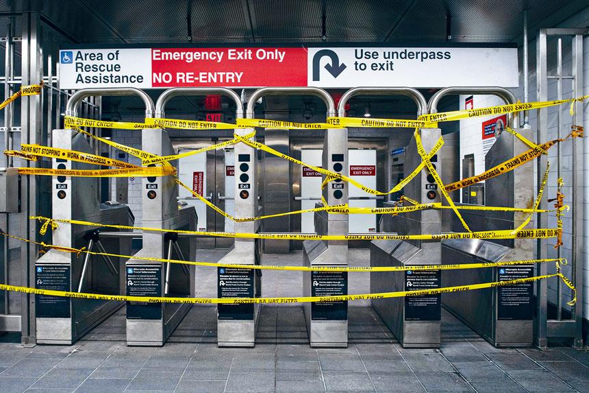 大都會捷運局今年遭受嚴重收入損失。Gregg Vigliotti/紐約時報