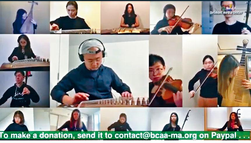 MIT Mass Ave國樂團在演奏具有濃郁中國文化曲風的 《將軍令》。溫友平攝影
