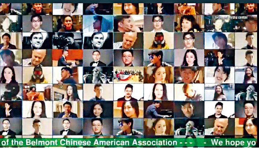 華人留學生原創音樂公益演唱會全體演職員。溫友平攝