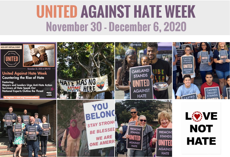 「反仇恨犯罪週」全美各地聯合打擊仇視犯罪現象。官網截圖