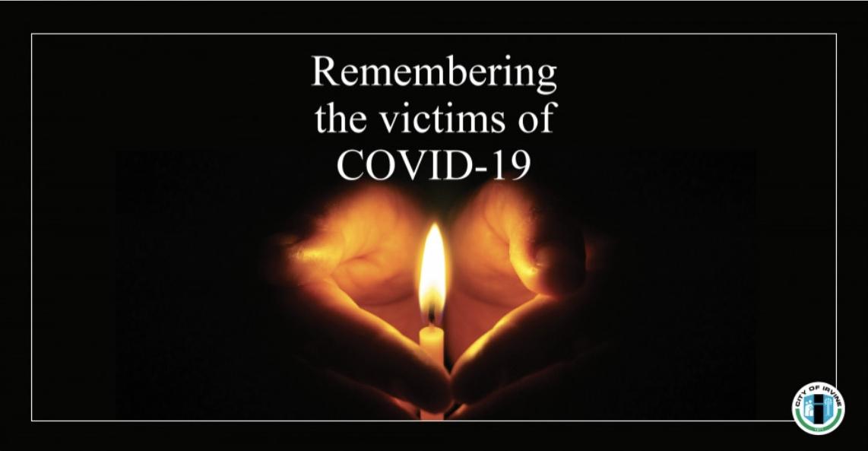 爾灣創辦網上紀念平台 緬懷因新冠病毒逝去的居民。爾灣市府網站截屏