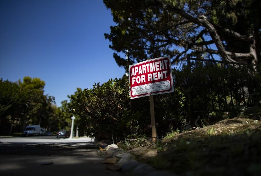 洛杉磯以及內陸帝國之間的租金漲跌出現明顯差異。洛杉磯時報