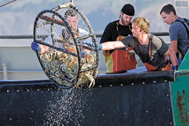 商業珍寶蟹季押後,加上疫情肆虐導致市場低迷,漁民們均感無奈。美聯社資料圖片