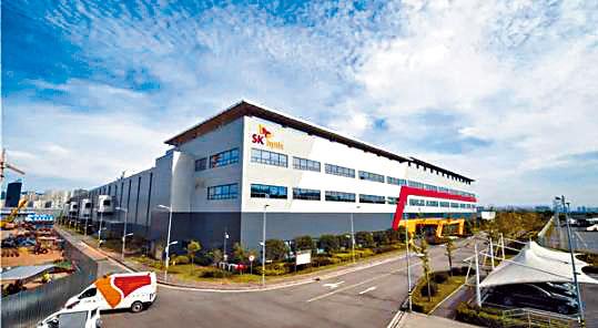 重慶SK海力士半導體廠停工。