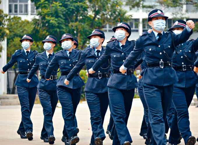 巾幗不讓鬚眉的女警務人員。