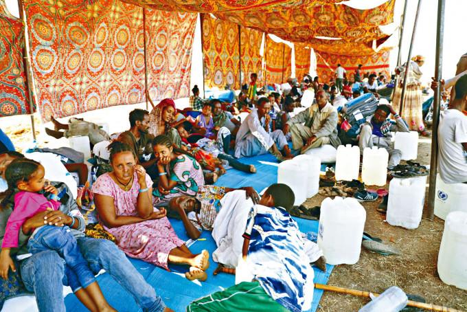 逃往蘇丹東部的埃塞俄比亞難民。