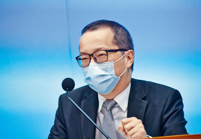 袁民忠介紹新成立的粵港澳大灣區發展辦公室主要工作。