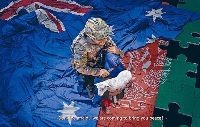 趙立堅在社交網站轉發這幅圖畫,引起澳洲不滿。