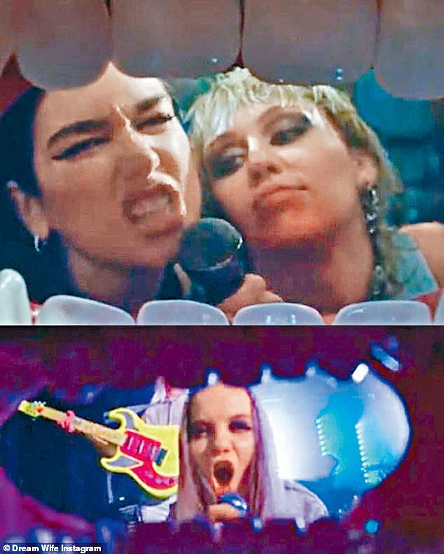 Miley和Dua新MV(上)被英樂隊Dream Wife指控抄襲她們5月的MV。