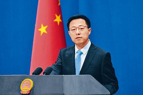 中國外交部發言人趙立堅斥英顛倒黑白。