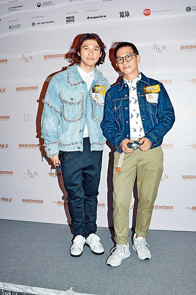 又南(左)唔忍心掌摑戲中囝囝。袁富華感恩疫市仍有戲拍。
