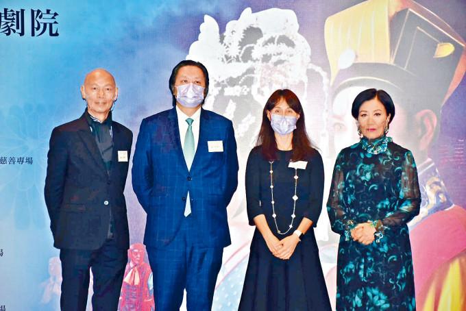 汪明荃與家英哥聯手為粵劇界打氣。