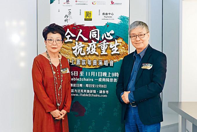 鄧拱璧與阮兆輝為搞這次籌款演唱會,費盡心力。