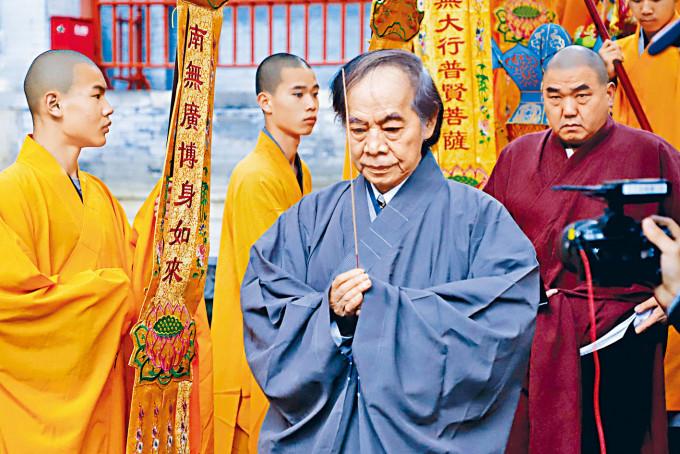 蔡志忠昨天在河南少林寺剃度。
