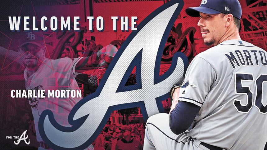 勇士官方發出的歡迎投手查理.莫頓加盟的宣傳海報。網上圖片