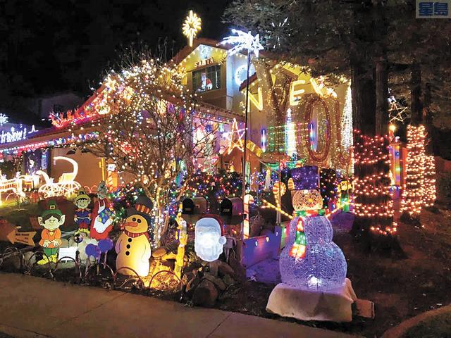 利物摩居民Alex Dourov的聖誕燈飾佈置美輪美奐。Alex Dourov提供