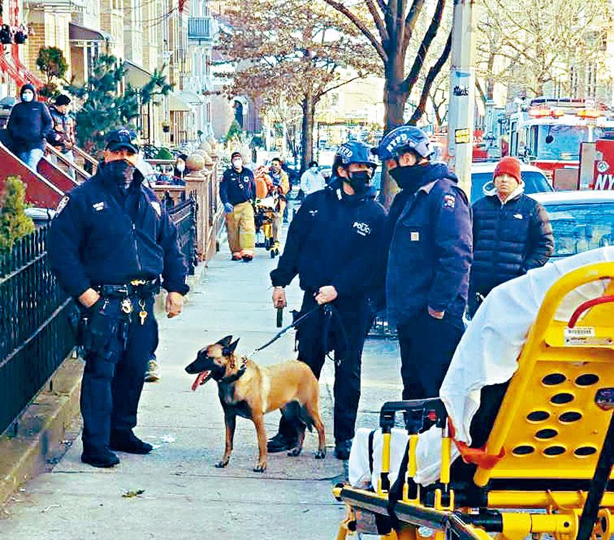 搜救犬出動協助處理。警方提供
