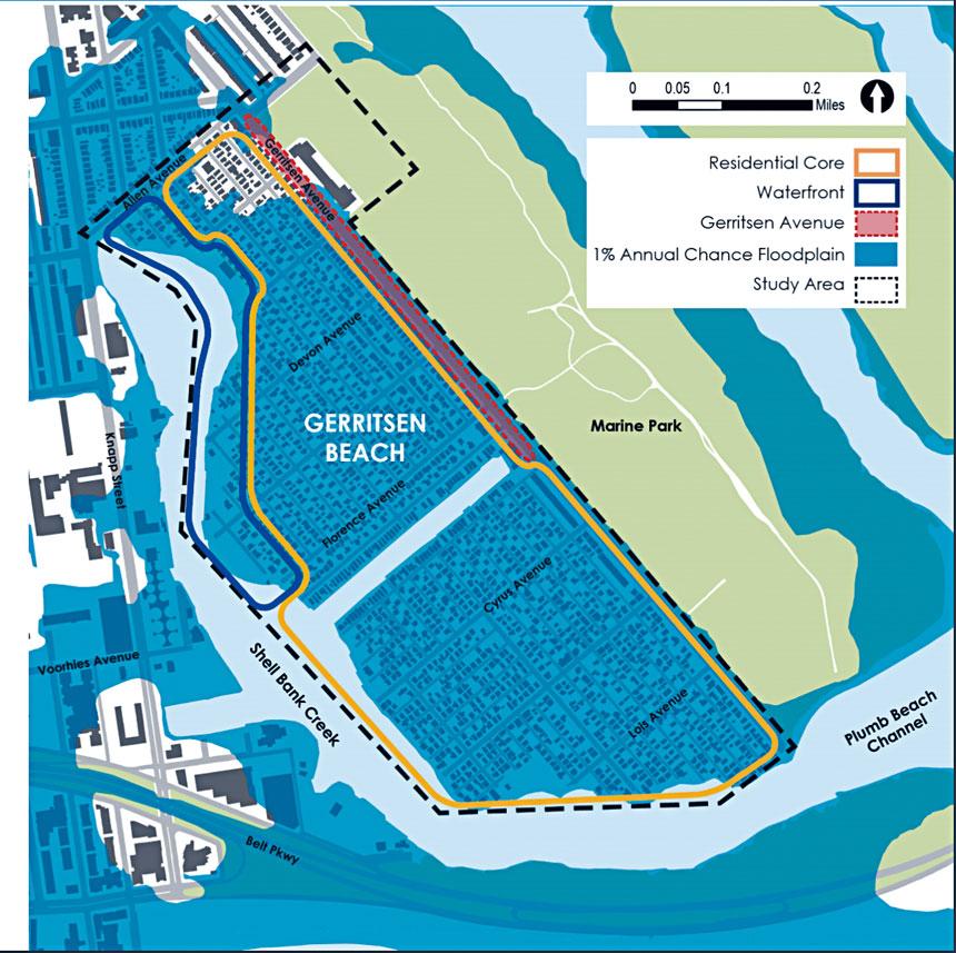 規劃局希望將整個克里申灘區設立為「特殊沿海風險區」。  市城市規劃局提供