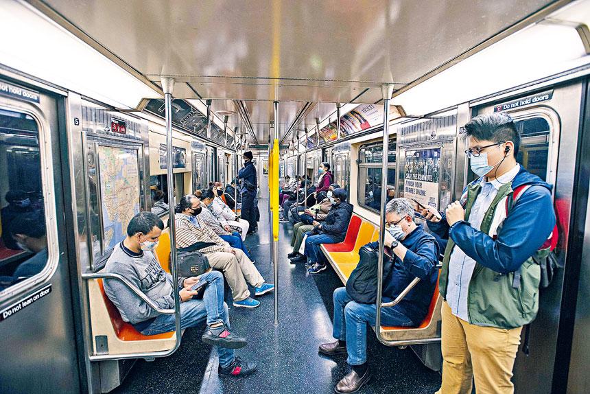 目前地鐵乘客量整體回復至大流行前的30%水平。Jonah Markowitz/紐約時報