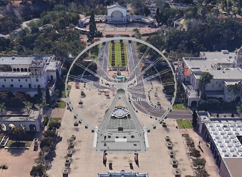 聖地牙哥地標巴博亞公園搭建摩天輪景觀餐廳一案已獲該市公園處初步支持。聖地牙哥市