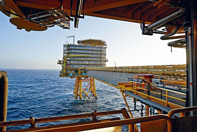 丹麥公司在北海的鑽油台。