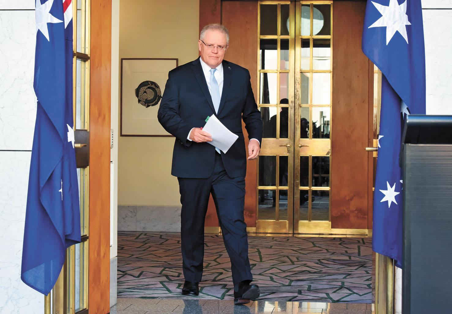 有報道指,莫里森12月1日在執政聯盟會議上承認中澳關係嚴峻,並表示努力保持與中國的工作關係。彭博社資料圖片