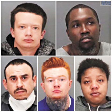 警方拘捕五名疑犯。