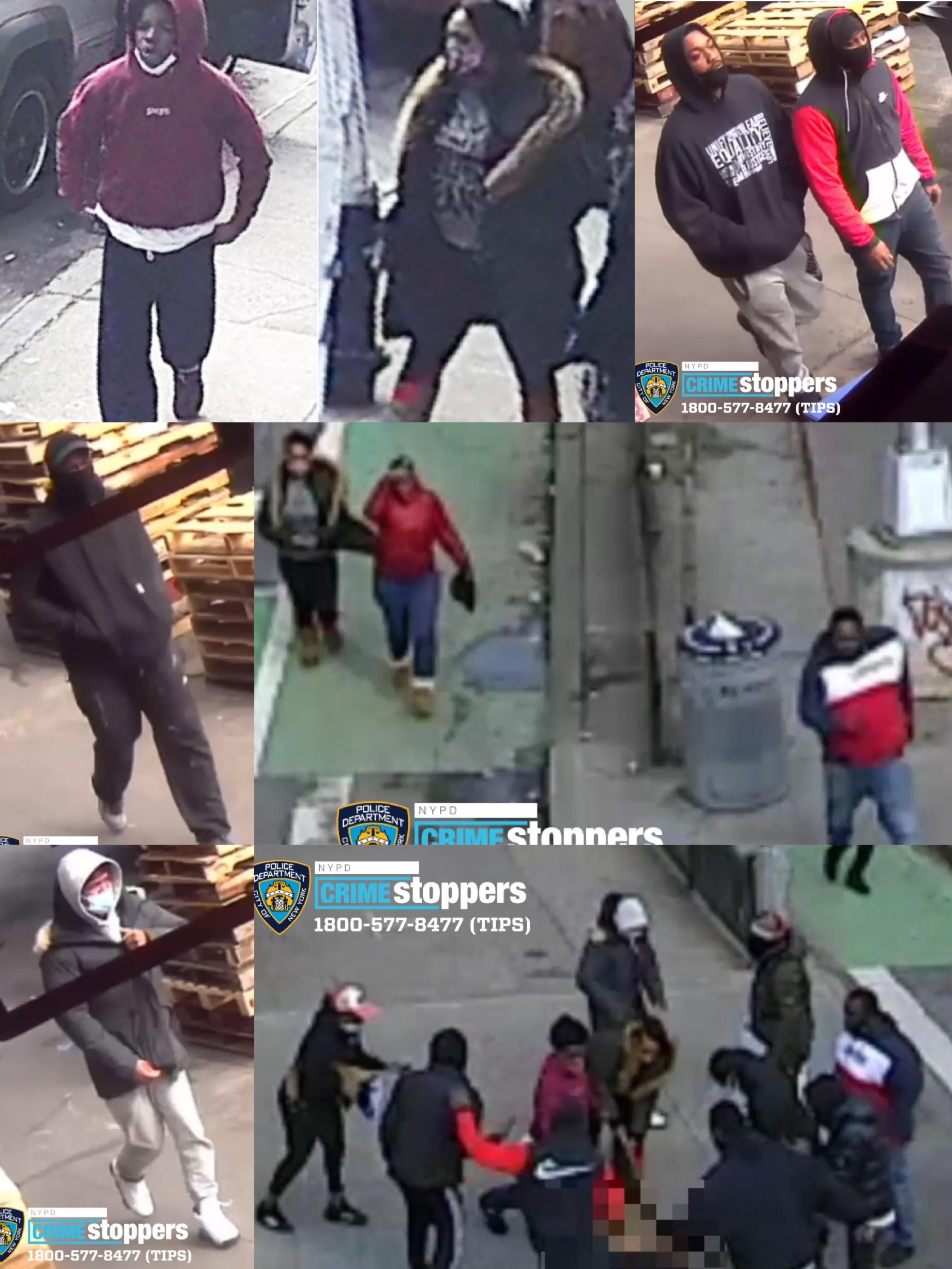 圖為涉案團夥。 NYPD