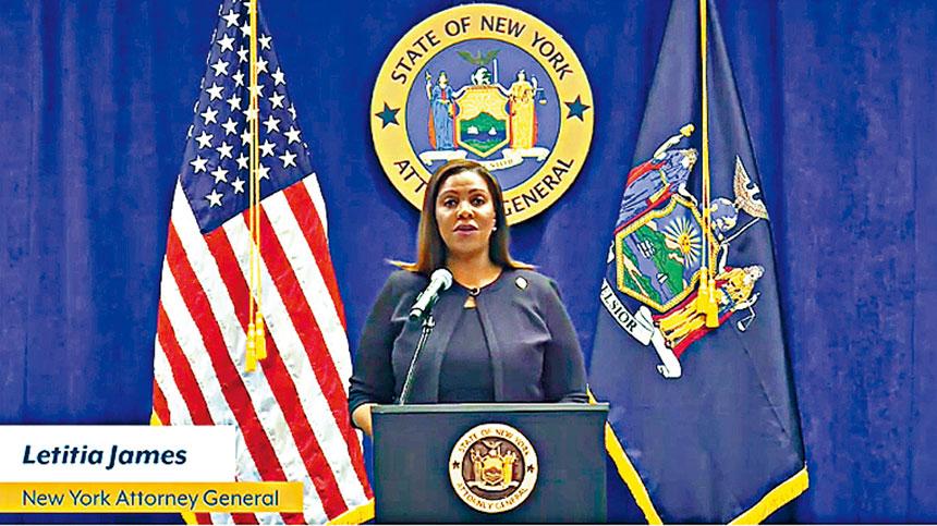 詹樂霞宣布針對紐約市警過度使用武力提出起訴。視頻截圖