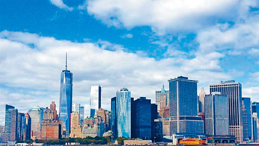 紐約房地產委員會指出,疫情期間紐約市房地產銷售大降46%。資料圖片