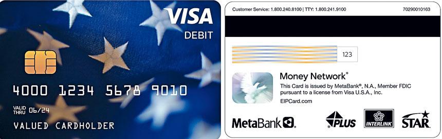 圖為EIP Visa借記卡外觀。