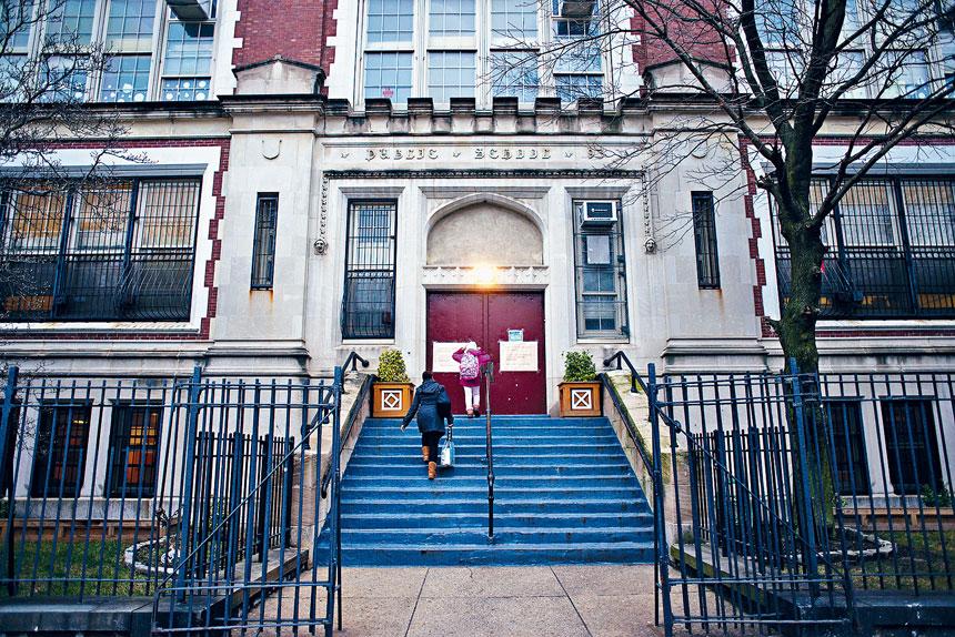 現時紐約市只有幼兒及特殊教育學生上面授課。Andrew Seng/紐約時報